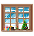 cozy interior room with window vector image vector image