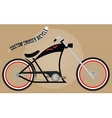 custom cruiser bicycle vector image vector image