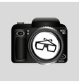 digital photo camera glasses 3d vector image