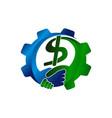 dollar machine deal vector image
