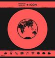 earth logo icon vector image vector image