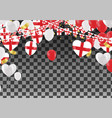 england balloons with countries flags of national vector image vector image