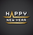EPS10 happy new year text icon vector image vector image