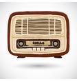 Grunge vintage wooden radio vector image vector image