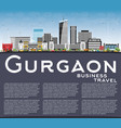gurgaon india city skyline with gray buildings vector image vector image