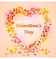 Happy Valentines day card Heart with place for vector image