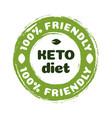keto diet nutrition badge vector image