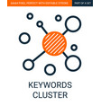 keywords cluster simple outline colorful vector image