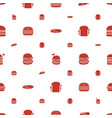 lettuce icons pattern seamless white background vector image vector image