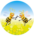 Love in bees vector image