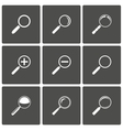 Magnifier and zoom icons vector