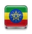 Metal icon of Ethiopia vector image vector image