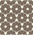 monochrome seamless geometrical flower pattern vector image vector image