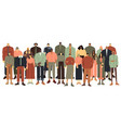 multi ethnic people group multiracial student vector image