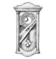 old pendulum clock vector image vector image
