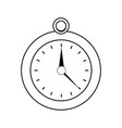 outline luxury pocket watch object style vector image