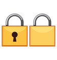 padlocks front and back vector image vector image