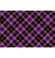 Pink blue black check plaid seamless pattern vector image vector image