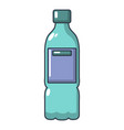plastic bottle icon cartoon style vector image vector image