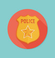 police badge icon vector image
