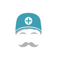 portrait of medical orderly man in hat vector image vector image