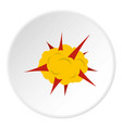 power explosion icon circle vector image vector image