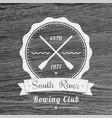 rowing club vintage logo emblem vector image vector image