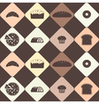 Seamless background with bakery for your design vector image vector image