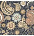 Seamless elegant paisley pattern vector image