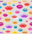 seamless pattern lips vector image vector image