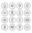 set round line icons of house systems vector image