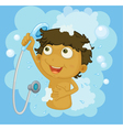 Shower time vector image vector image
