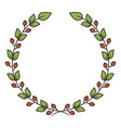 simple floral wreath vector image