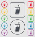 Soft drink icon sign symbol on the Round and vector image