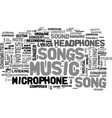 songs word cloud concept vector image
