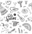 spain seamless pattern doodle elements hand drawn vector image vector image