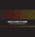 star pattern set gold and flame seamless vector image vector image
