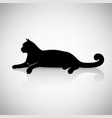 stylized reclining cat vector image vector image