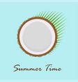 summer card with coconut vector image vector image
