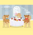 tea party toys concept flat vector image