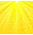 Yellow shining light top magic abstract vector image vector image