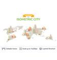 isometric city elements vector image