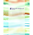 Watercolor banner with blurred glass vector image