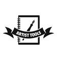 artwork logo simple black style vector image vector image