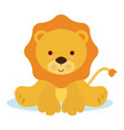 baby lion vector image vector image