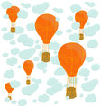 balloons and clouds vector image