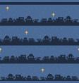 blue bethlehem skyline silhouette seamless vector image