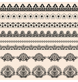 Brush lace vector image vector image