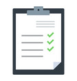 check marks document icon flat isolated vector image