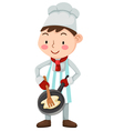 chef isolated on white background vector image